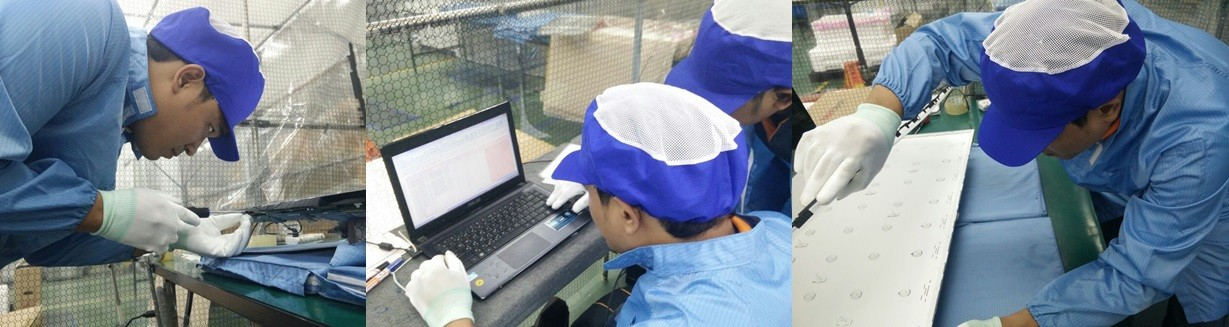 In everyday after we finished sorting part in thailand we will record the result to report sent to c